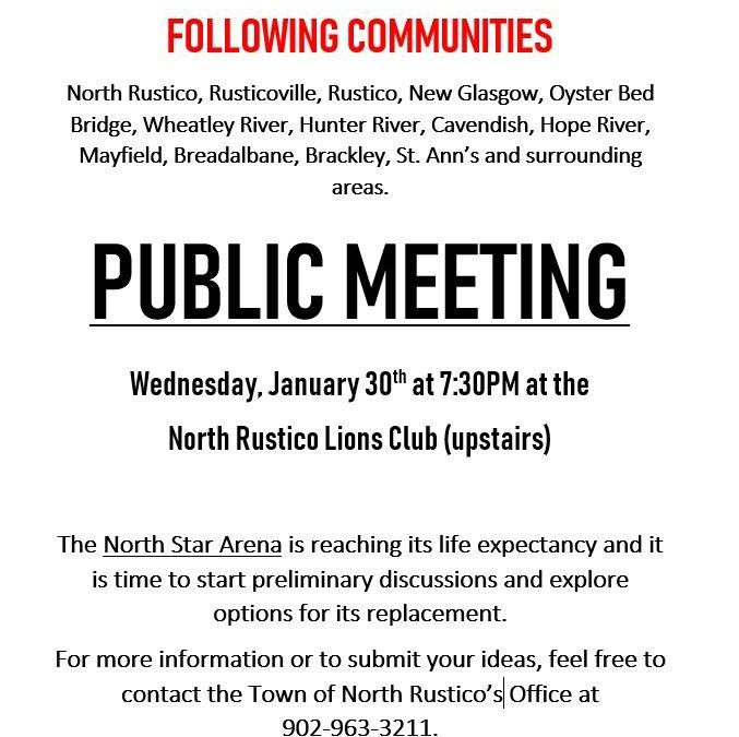 Public Meeting – Replacing Arena