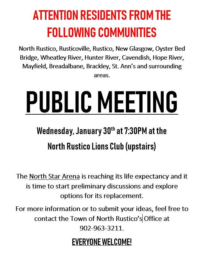 North Star Arena - Public Meeting Notice